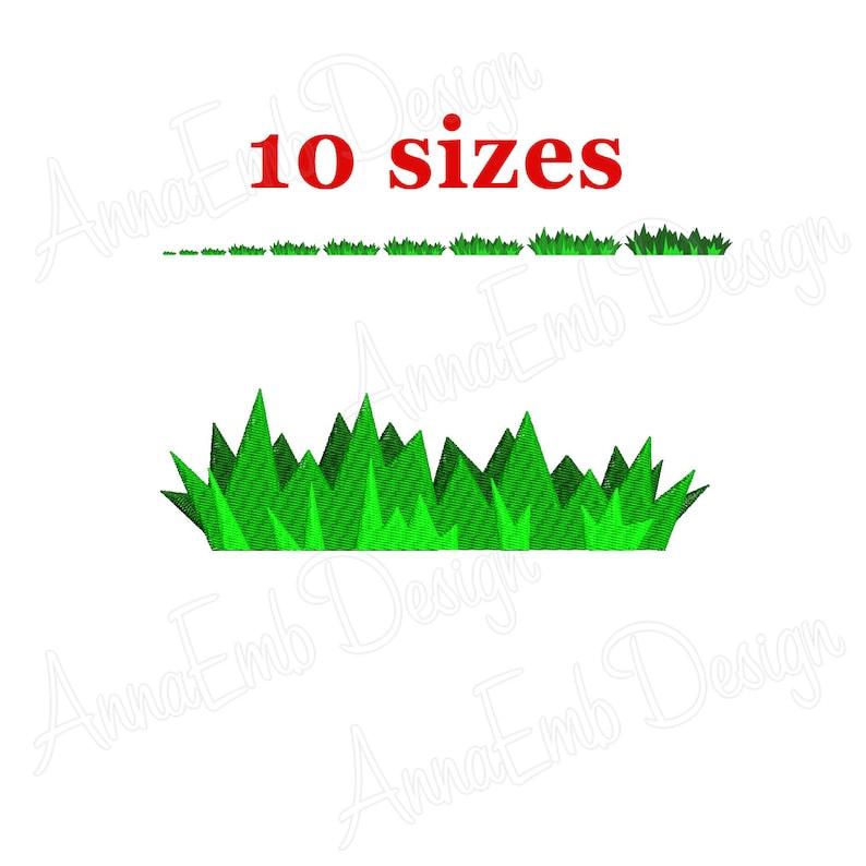 Grass embroidery design  Machine embroidery  Grass Border Embroidery  Design  Grass Silhouette  Floral Border  Grass design