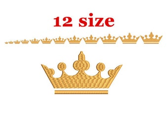 Crown Embroidery Design. Machine Embroidery Design. Tiara embroidery. Princess Crown Embroidery. Machine Embroidery Design. Mini Crown
