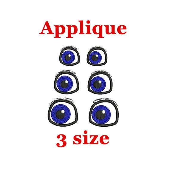 Eyes Embroidery Design Eye Applique Face Machine Embroidery Etsy