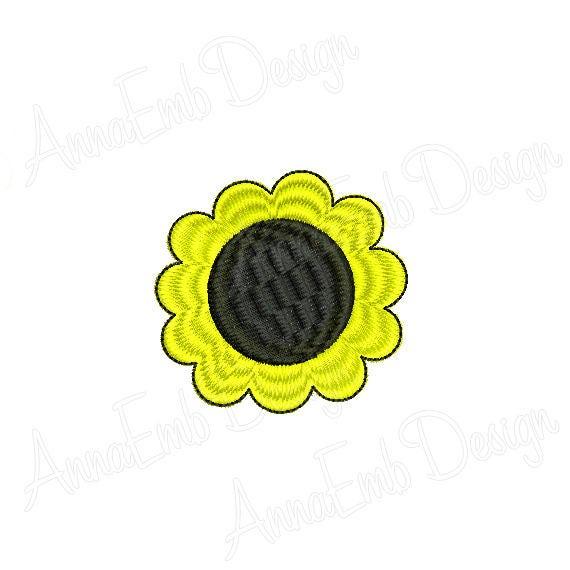 Flower Mini Embroidery Design Sunflower Mini Embroidery Etsy