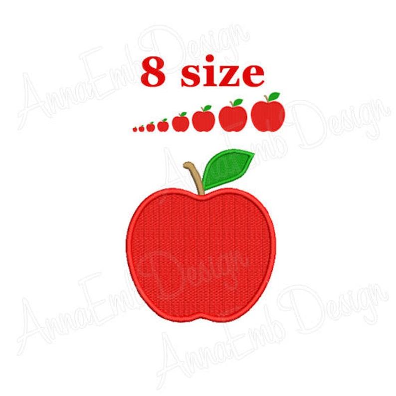 Apple Embroidery Design Apple Mini Embroidery Fruit Etsy