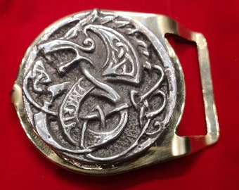 Viking Wolf hand made belt buckle.