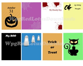 Halloween Journal Cards, Diary Cards