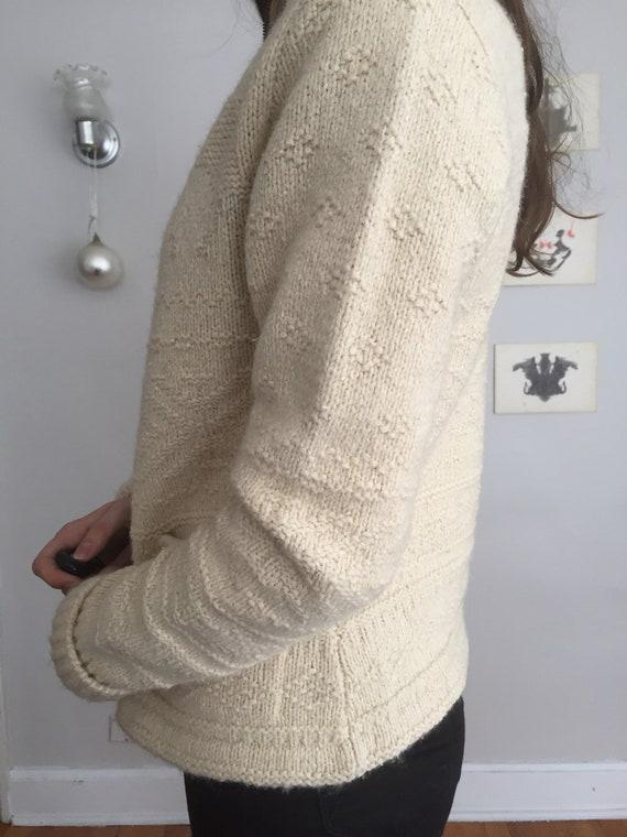 Vintage 80s Ralph Lauren Zip Up Knit Sweater - image 4