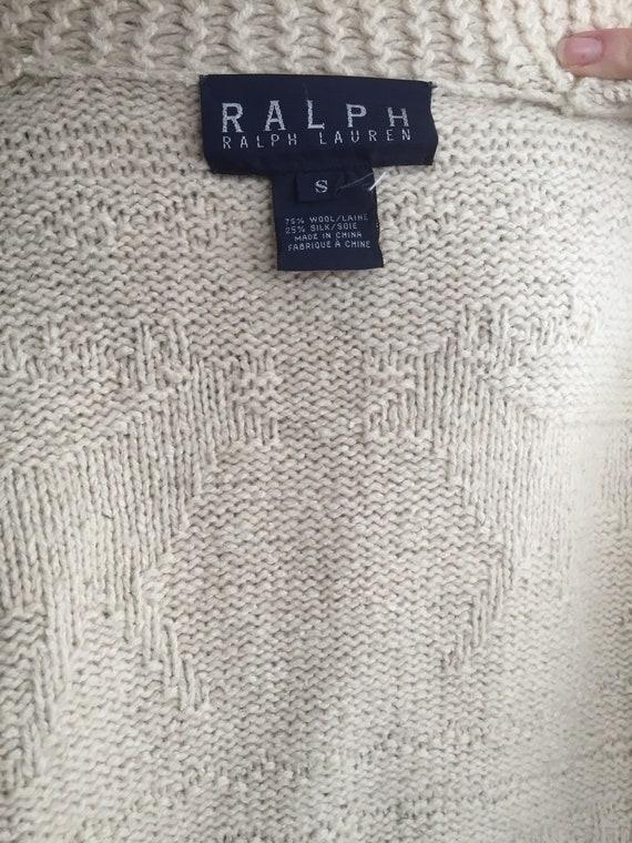 Vintage 80s Ralph Lauren Zip Up Knit Sweater - image 5