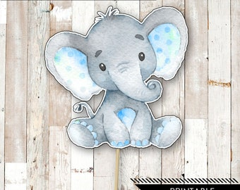 This is a photo of Modest Free Printable Elephant Baby Shower