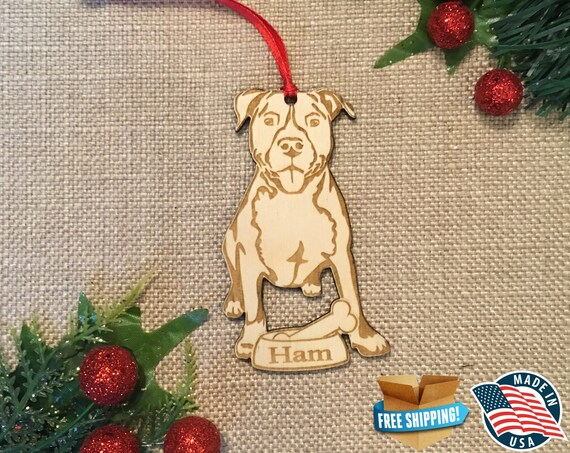 Pitbull Christmas Ornament.Pit Bull Pitbull Ornament Pit Ornament Personalized Dog Ornament Dog Lover Gift Christmas Holiday Ornament