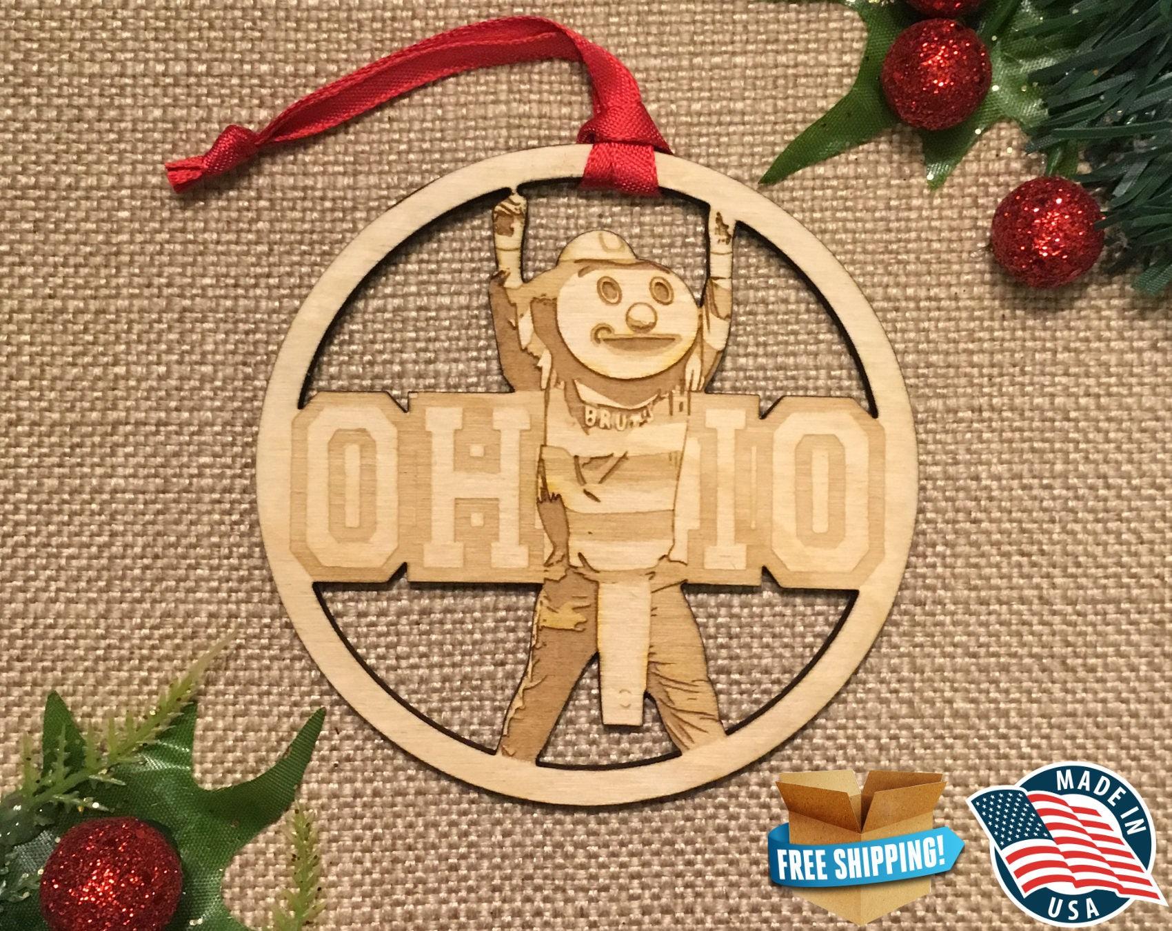 Ohio State Ornament Buckeye ornament OSU Ornament   Etsy