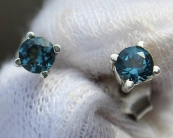 da4e3e3f0 Blue topaz earstud, London blue Topaz ,925 sterling silver stud earrings.