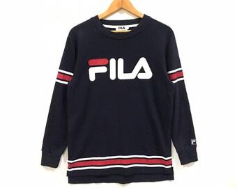 Rare !!! vintage fila big logo sweatshirt 61a2a2bb7c0b6