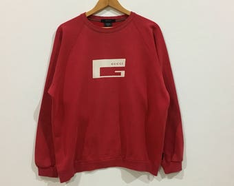 326343d9d4d Vintage !!! Rare vintage gucci big logo made in italy sweatshirt red colour