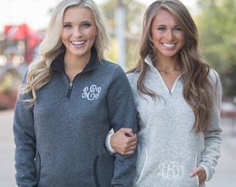Monogrammed Heathered Pullover..Personalized Fleece Pullover..Comfy Fall Jacket..Monogram Pocket Pullover..Quarter Zip Pullover..Fall Jacket