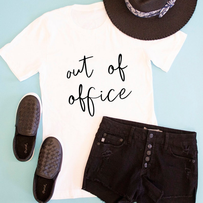 308babe008ec Out Of Office Graphic Tee..Summer Vacation..Beach