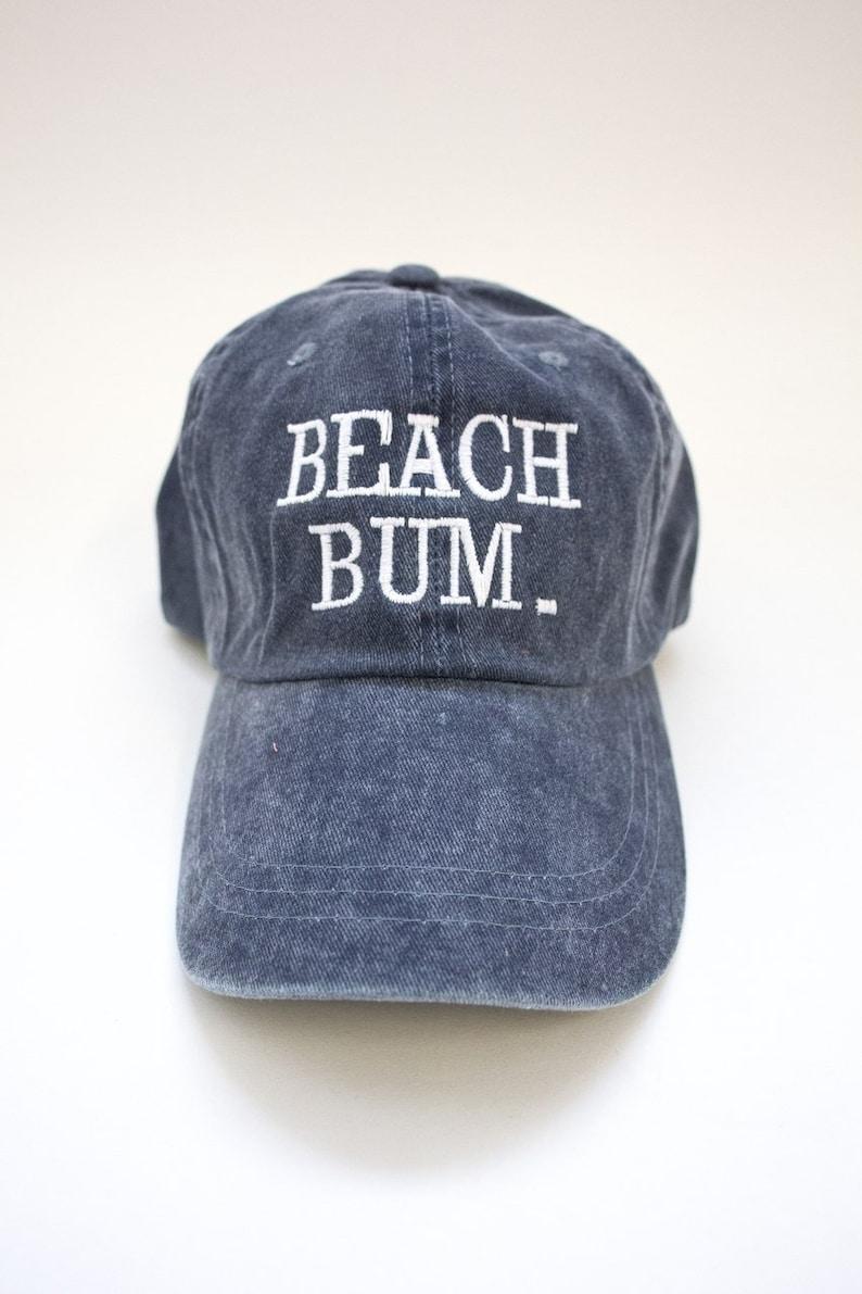 8a531135 Beach Bum Embroidered Baseball Cap..Preppy Caps..Lake | Etsy