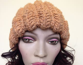 Vintage Knitted Beanie Hat