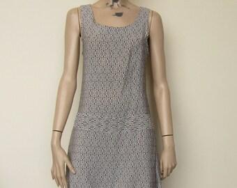Monochrome Mini Summer Dress - size 8-10 WD4