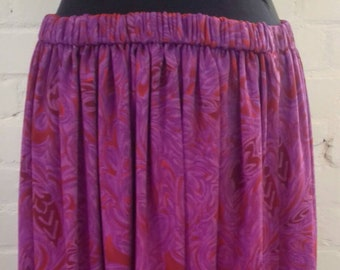 Bright pink and red handmade skirt from the 80's - medium