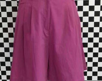 1980's pink/purple kulotts/shorts with pockets - M/L
