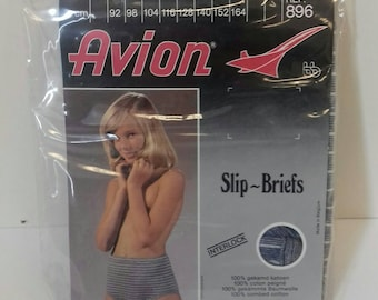 Girls blue striped pants from the 70's in original packaging