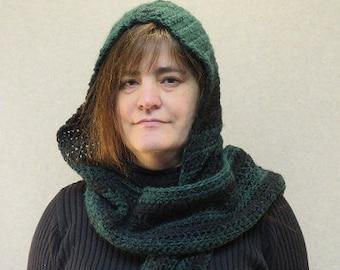 Hooded scarf/ Crochet hooded scarf/ crochet wool scarf/ wool scarf/ snood/ crochet snood/ crochet scoodie/ scoodie/ wool scoodie/ scarf