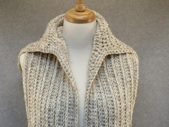 Kapuzen-Schal häkeln / langer Schal mit Kapuze / häkeln | Etsy