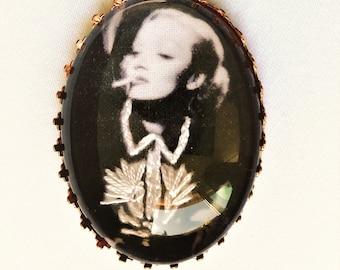 Marlene Dietrich hand embroidered brooch
