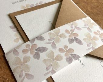 Floral wedding invitation and RSVP card- sample