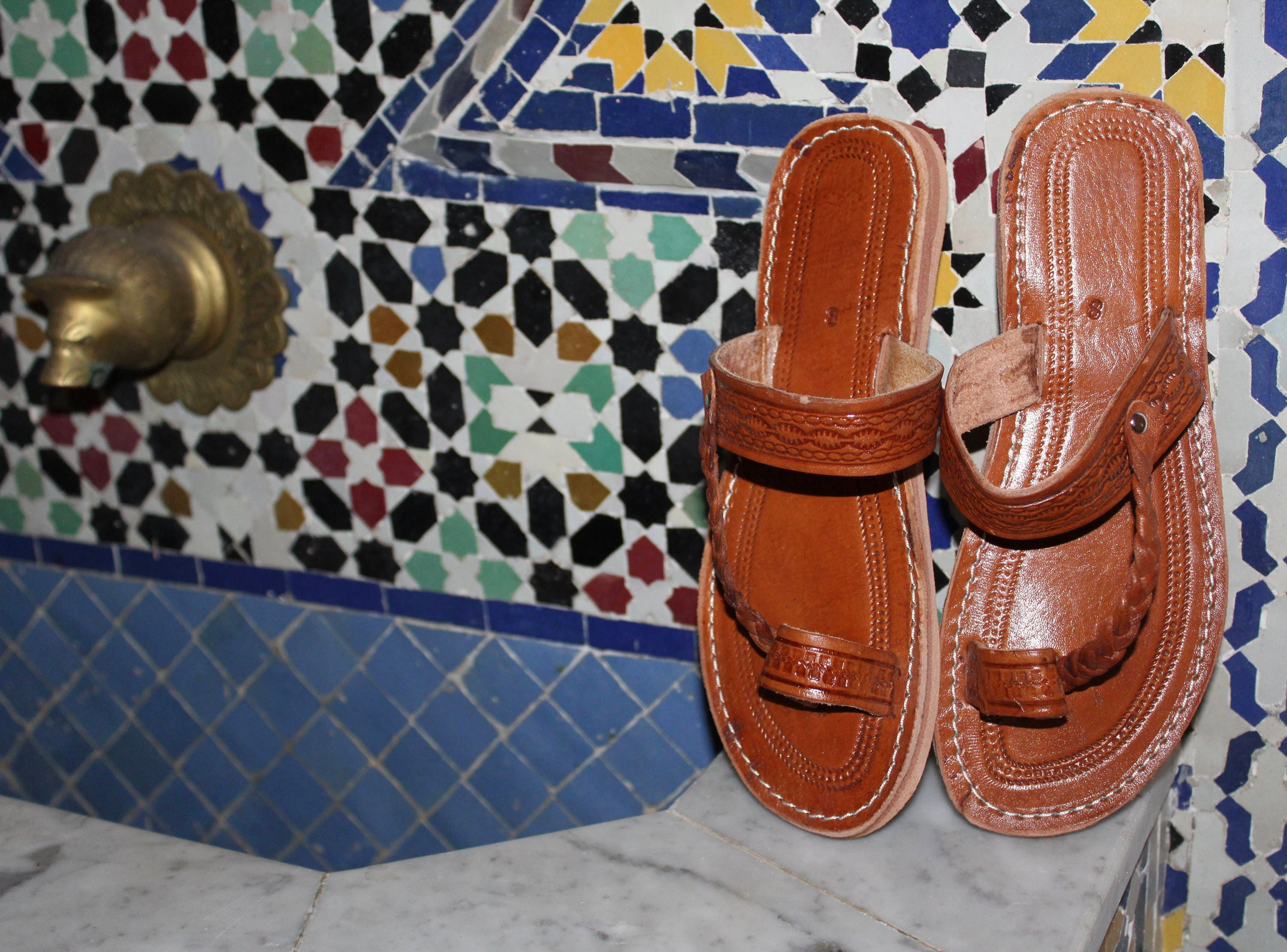 2b9935b7786849 Moroccan leather Sandals