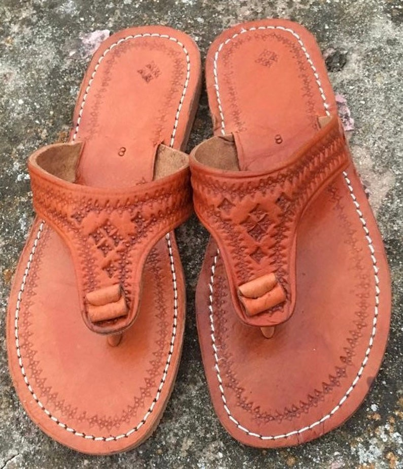 af1565be9b733 Moroccan Honey Brown leather Thong Sandals, Handmade Leather Flip Flop  Sandals, Brown Leather Sandals, Women Leather Sandals, Thong Sandals