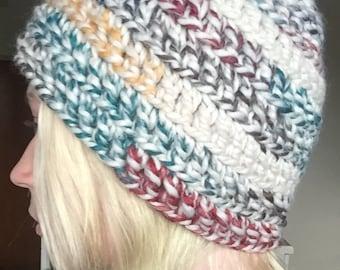 Multicolored Crochet Beanie