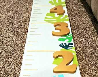 Wild One Growth Chart | Baby Shower Gift | Nursery Growth Chart | Kids Height Ruler | Wood Height Chart | Wood Ruler Large | Gift