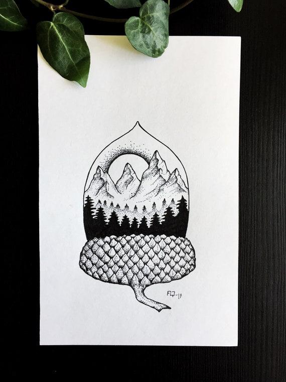 Acorn Art Drawing
