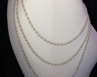 """Bridal shoulder jewellery epaulettes. Crystal AB and pearls. 3 rows 13,16,20"""" 1 pair. Shoulder chains."""
