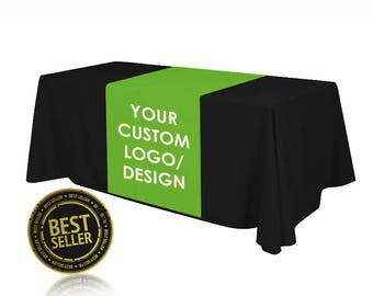 Custom Table Runner for Tradeshow booth events fundraisers advertising business | Trade Show Table Runner, Custom Logo Table RUNNER ONLY