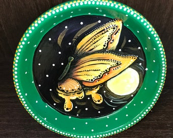 Butterfly Pedestal Ceramic Plate