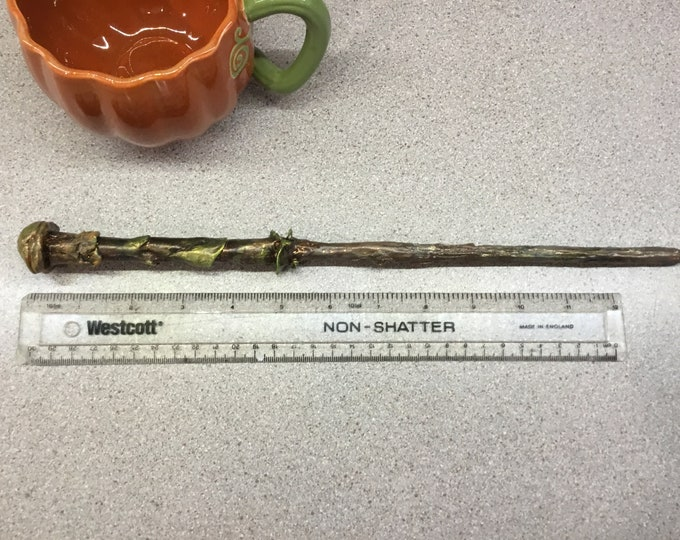 The Rod of  Lichen, Magical Wand for LARP and Fantasy Collections - Comic Con - Blizzcon - witch and wizard wand - renfair costume