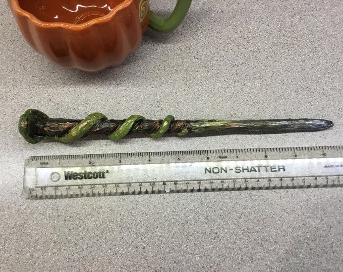 Petulios' Ruler, Wand for LARP or fantasy-Geek collections- comicon- blizzcon -Geek accessories - witch wand- costume- snake