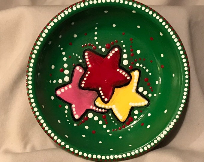 Red, Pink, Yellow Star Jewelry Dish