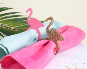 Flamingo Napkin Rings in Pink or Gold - Party Napkin Rings, Flamingo Decor, Gifts for Her, Flamingo Gifts, Flamingo Party