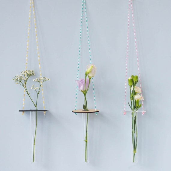 Hanging Vase Minimal Hanging Vase Test Tube Vase Party Etsy
