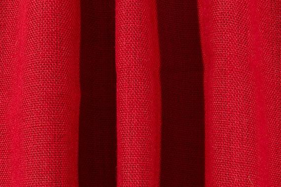 Red Burlap curtains, Livingroom curtains.upscale burlap curtains