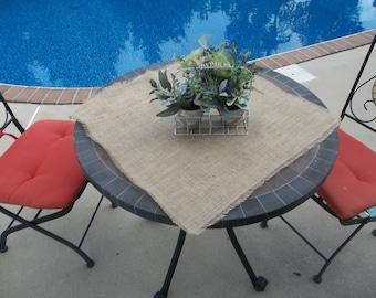 Burlap table square