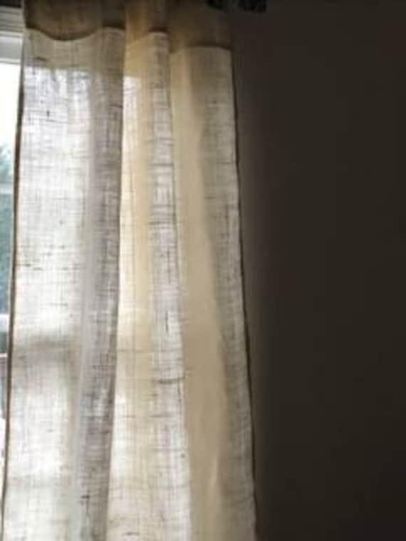 Sale White Burlap Curtains Livingroom Curtainsbedroom