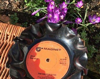Vintage Vinyl Record Key Holder - Alvin Stardust - The Danger Zone