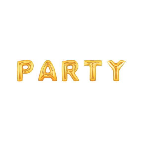 PARTY Balloons 40 Gold Letter Birthday