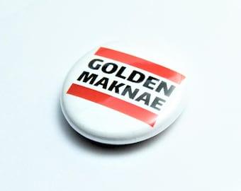 BTS Golden Maknae badge pin BTS Accessory ARMY Cute Kawaii Pin Jungkook Kookie V Taehyung Jimin Yoongi Suga Rapmonster Maknae