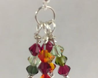 Small crystal cluster earrings
