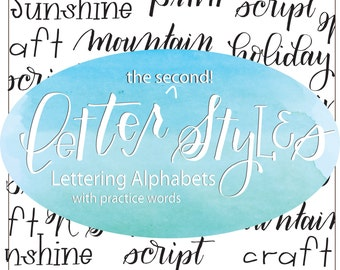 Letter Style: Lettering Alphabets with Practice Words Brush