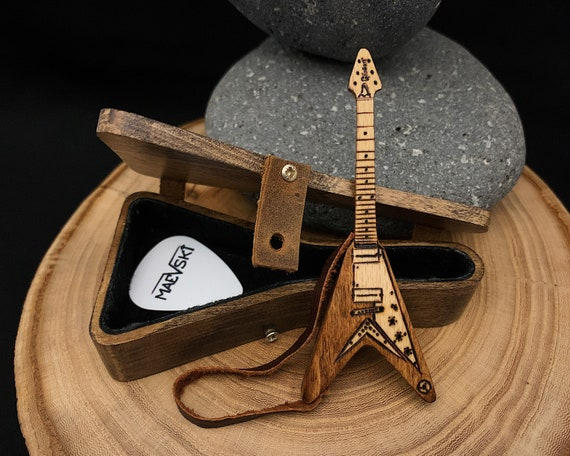 Groomsman Gifts and Personalized Wooden Earring Gift For Him or Her Wedding Gifts Bridesmaid Gifts Electric Guitar Stud Earring