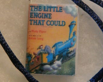 The Little Engine that Could by Watty Piper miniature book charm bookmark